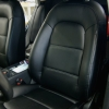 Чехлы для Audi A4 B8 из черной экокожи №9