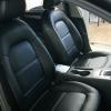 Чехлы для Audi A4 B8 из черной экокожи №1