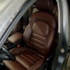 Чехлы для Audi A4 B8 из темно-коричневой экокожи №1