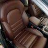 Чехлы для Audi A4 B8 из темно-коричневой экокожи №2