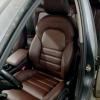 Чехлы для Audi A4 B8 из темно-коричневой экокожи №3
