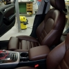 Чехлы для Audi A4 B8 из темно-коричневой экокожи №4