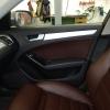 Чехлы для Audi A4 B8 из темно-коричневой экокожи №12