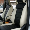 Черно-белые чехлы из экокожи для Ford Ecosport №1