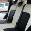 Черно-белые чехлы из экокожи для Ford Ecosport №3