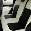 Черно-белые чехлы из экокожи для Ford Ecosport №4