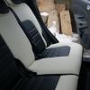 Черно-белые чехлы из экокожи для Ford Ecosport №6