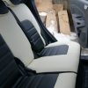 Черно-белые чехлы из экокожи для Ford Ecosport №7