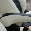 Черно-белые чехлы из экокожи для Ford Ecosport №8