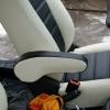 Черно-белые чехлы из экокожи для Ford Ecosport №9