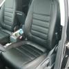 Авточехлы из черной экокожи для Volkswagen Tiguan 2011 №1