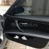 Чехлы для BMW 320 E90 из черной экокожи с ромбом №2
