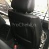 Чехлы для BMW 320 E90 из черной экокожи с ромбом №6