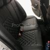 Чехлы для BMW 320 E90 из черной экокожи с ромбом №7