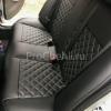Чехлы для BMW 320 E90 из черной экокожи с ромбом №8