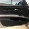 Чехлы для BMW 320 E90 из черной экокожи с ромбом №9