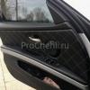 Чехлы для BMW 320 E90 из черной экокожи с ромбом №10