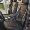 Чехлы для BMW X1 из черной экокожи  №1