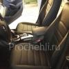 Чехлы для BMW X1 из черной экокожи  №2