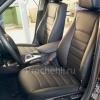 Чехлы для BMW X1 из черной экокожи  №3