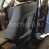Чехлы для BMW X1 из черной экокожи  №5
