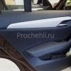 Вставки в карты дверей BMW X1 из черной экокожи  №4