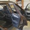 Вставки в карты дверей BMW X1 из черной экокожи  №5