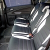 Черно-белые авточехлы с фиолетовой строчкой для Ford S-MAX №1