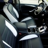 Черно-белые авточехлы с фиолетовой строчкой для Ford S-MAX №7