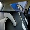 Черно-белые авточехлы с фиолетовой строчкой для Ford S-MAX №8