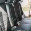 Черные чехлы с красной строчкой для Hyundai Tucson