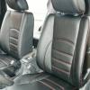 Черные чехлы с красной строчкой для Hyundai Tucson №5
