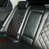 Авточехлы для Kia Cerato - черная экокожа с строчкой красным ромбом