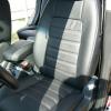 Чехлы из черной экокожи Chevrolet Captiva №9