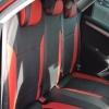 Авточехлы для Citroen C4 New из черно-красной экокожи №3