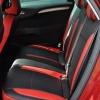 Авточехлы для Citroen C4 New из черно-красной экокожи №4