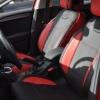 Авточехлы для Citroen C4 New из черно-красной экокожи №5