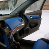 Торпедо и двери Chevrolet Cruze из синей экокожи №1