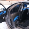 Торпедо и двери Chevrolet Cruze из синей экокожи №4