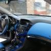 Торпедо и двери Chevrolet Cruze из синей экокожи №5