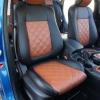 Чехлы для Mazda CX-5 из черно-коричневой экокожи №1