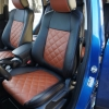 Чехлы для Mazda CX-5 из черно-коричневой экокожи №2