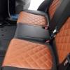 Чехлы для Mazda CX-5 из черно-коричневой экокожи №4