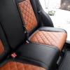 Чехлы для Mazda CX-5 из черно-коричневой экокожи №5