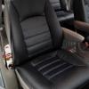 Чехлы для Dodge Caravan из черной  экокожи №1
