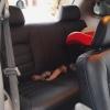 Чехлы для Dodge Caravan из черной  экокожи №12