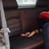 Чехлы для Dodge Caravan из черной  экокожи №11
