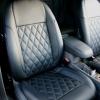 Чехлы для Ford Focus 2 из черной  экокожи с ромбом №4