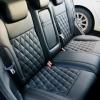 Чехлы для Ford Focus 2 из черной  экокожи с ромбом №5