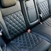 Чехлы для Ford Focus 2 из черной  экокожи с ромбом №6